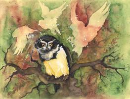 Owl Spirit by kiriOkami