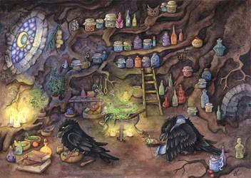raven apothecary by kiriOkami