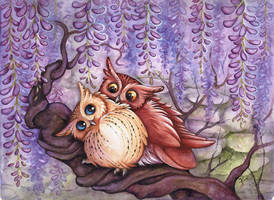 purple snuggle caress fluff by kiriOkami