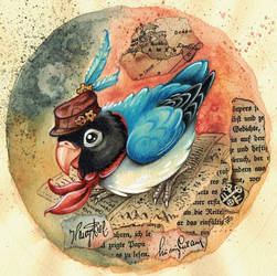 Steampunk Parrot by kiriOkami
