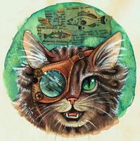 Steampunk Cat by kiriOkami