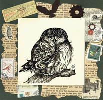 Ink Owl by kiriOkami