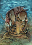 Steampunk Otter by kiriOkami