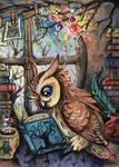 read makes wise ACEO by kiriOkami