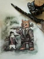 Butch and Penguin by kiriOkami