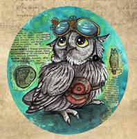 Steampunk Owl 2 by kiriOkami