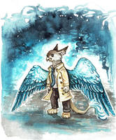 Castiel Furrystil Griffin by kiriOkami