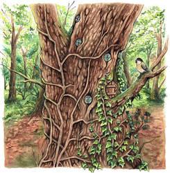 tree house by kiriOkami