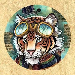 Steampunk Tiger by kiriOkami