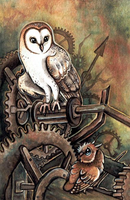 Clock Owls by kiriOkami