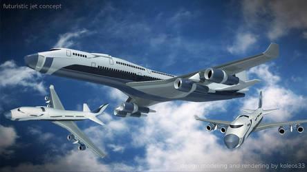 Futuristic aircraft concept by koleos33