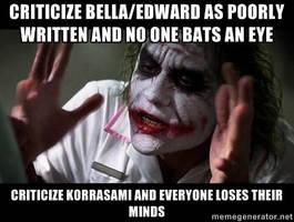AntiKorrasami Joker meme by godofwarlover