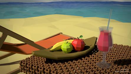 beach (LowPoly) by pat2494