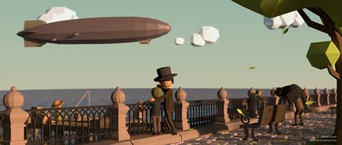 Zeppelin (LowPoly) by pat2494