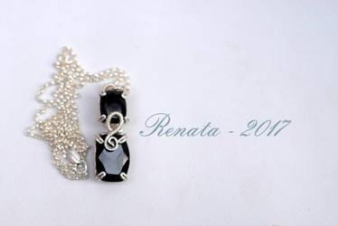 Black Garnet Amulet - Pendant by DreamsOfGems