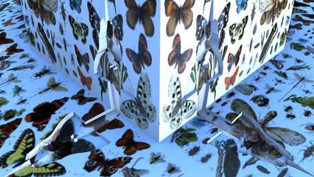 Mandelbulb3D Butterflies Cubed by 1Bryan1