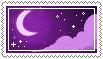 purple moon stamp . by memesking