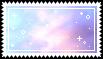 rainbow clouds stamp . by memesking