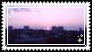 pink sunset stamp . by memesking