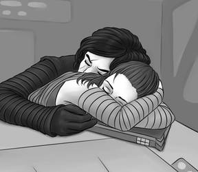 [reylo] Moment of peace by TrashedBarbie