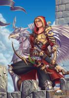 Solarius Gryphon Rider by FullMeTalAof