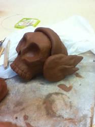 Clay Skull by faithbrier