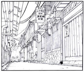 Alley - Manga Background by gene24manga