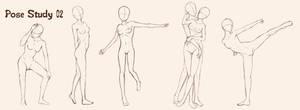 Pose Study 02 - female adult by gene24manga