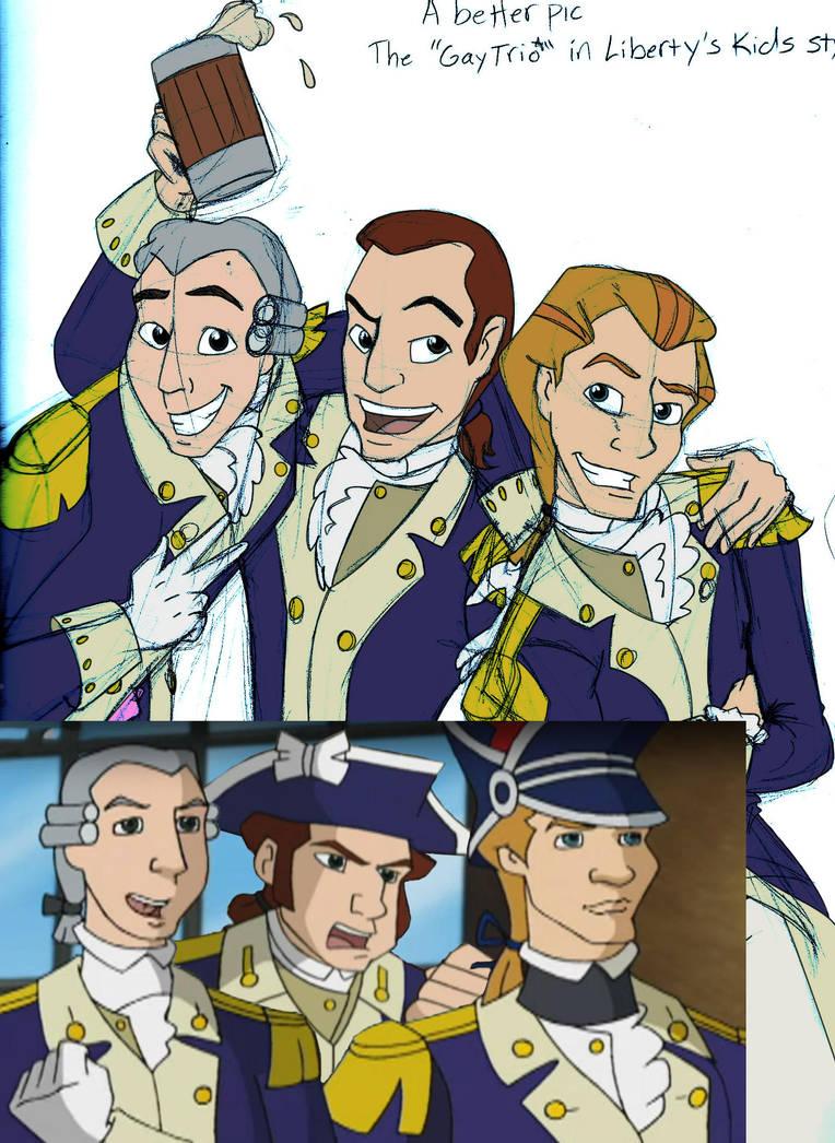 Gays in military uniform trio