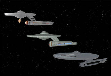Three Generations of Starfleet Panhandles by DigitalExplorations