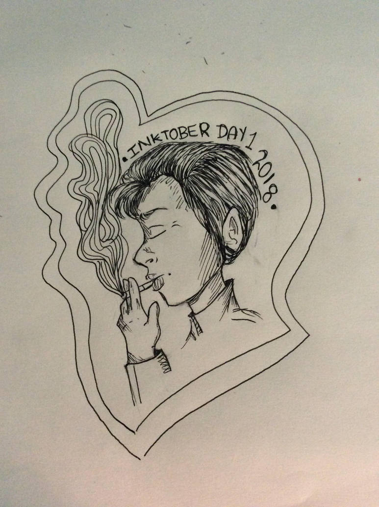 Inktober Day 1 Cigarette dreams  by Belkasky