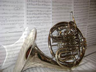 French horn by zanabri