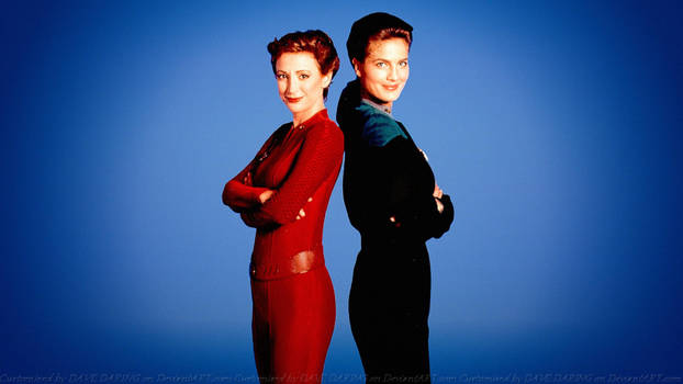 Terry Farrell + Nana Visitor Dax and Nerys by Dave-Daring