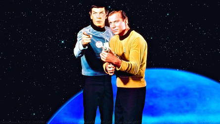 Spock and Kirk III by Dave-Daring