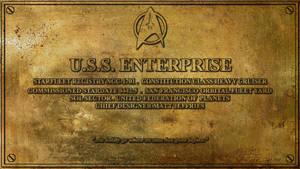 USS Enterprise Dedication Plaque by Dave-Daring