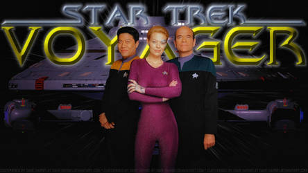 Star Trek Voyager Harry, Seven and The Doctor by Dave-Daring