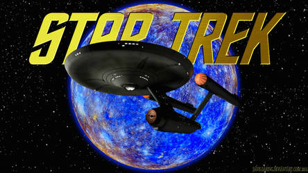 USS Enterprise and the Blue Moon by Dave-Daring
