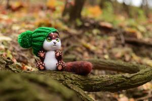 Lyncat Saenes, needlefelting toy by Lyntoys