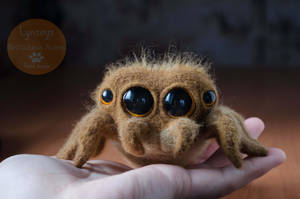 Jumping Spider Needle Felted by Lyntoys