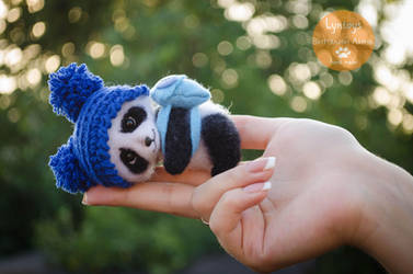 Baby Panda Needle Felted by Lyntoys