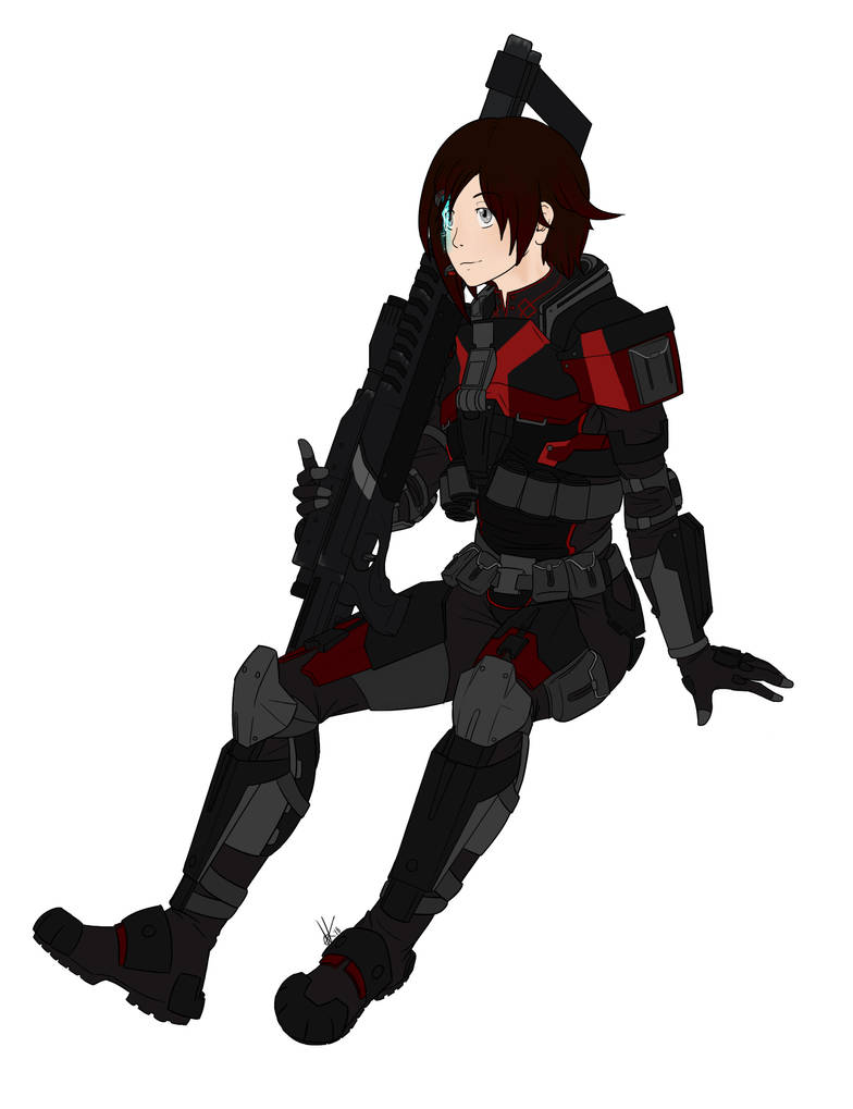 Jokerz-1824 Commission: N7 Ruby by canius