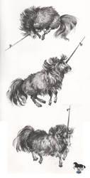 Mountain unicorns by OblokMagellana