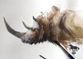 Wooly rhino by OblokMagellana