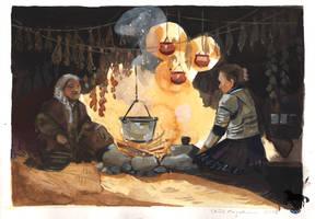 Folktaleweek day 3: witch by OblokMagellana