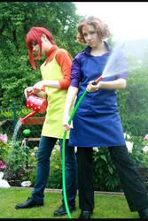 Aya and Yohji by kurui-chan