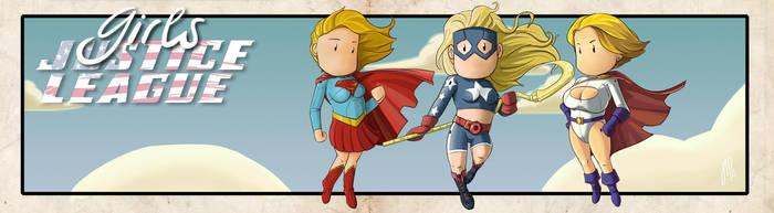 Powergirl, stargirl and supergirl Scribblenauts by jipandcie