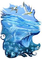 Sky and Sea by JaniceDuke