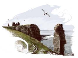 Castle Sinclair Girnigoe by JaniceDuke
