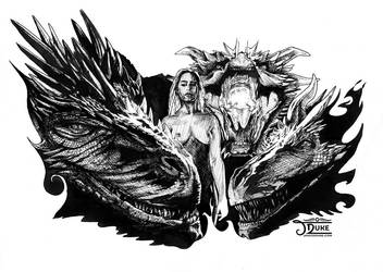 Mother of Dragons ink by JaniceDuke