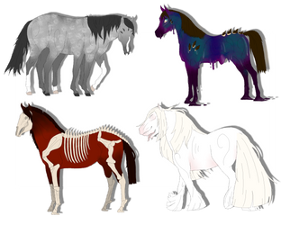 Demon Horse Adopts 1 -CLOSED- by KinkyUnicornSpit